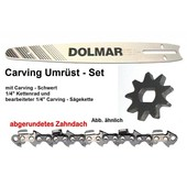 "Carving Umrüstung 1/4"" 30cm Makita UC 3520A + UC 4020A Elektro- Kettensäge Umrüstsatz komplett"