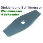 Freischneidermesser 2-Zahn 230 / 25.4 mm Wendemesser für Schilf u. Dickicht