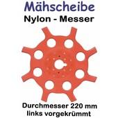 Freischeidermesser Grasmesser Nylon - Scheibe 220 mm 2 Stck. 8-Zahn 25,4 mm Aufnahme Motorsense