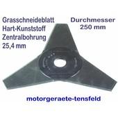 Freischeidermesser Grasmesser Nylon - Kunststoff 3-Zahn 250mm Durchm. 2 Stck. 25,4 mm Aufnahme Motorsense