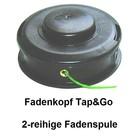 Fadenkopf universal Befestigung Tap&Go 130mm  auf der Messerspannscheibe für Freischneider Winkelgetriebe