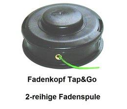 Fadenkopf Tap&Go 130mm univ. Befestigung auf der Messerspannscheibe für Freischneider Winkelgetriebe 20 + 25,4