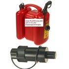 Doppelkanister für Kettensäge + tecomec Kraftstoff Einfüllsystem 6 Li. Kraftstoff 3. Li Kettenöl manueller Ausgießer
