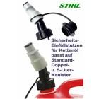 Einfüllstutzen Kettenöl STIHL für Doppelkanister auch Standard Kanister automatik Stop