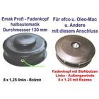 Fadenkopf Efco + Oleo-Mac 8x1,25 Li. Bolzen / Außengewinde mit 2,4mm Faden für Motorsense / Freischneider