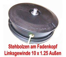 Fadenkopf Shindaiwa B35 / 40 / 45 / BP35 C35 / DYB 351 / 354 / 453 Motorsense mit 10 x1.25 links Bolzen am Kopf