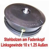 Fadenkopf Honda UMK 435E + Iseki : DYB 351 / 354 / 453 Freischneider mit 10 x1.25 links Bolzen am Kopf
