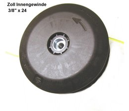 """Freischneider Fadenkopf Partner B 325 mit Zoll links-Innengewinde 3/8"""" x 24 Durchmesser 130mm Tap&Go"""