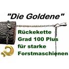 """Forstkette 2,0m 4-kant 8mm Rückekette G10 mit Schlinghaken + Nadel """"die goldene"""" Chokerkette 12t. Bruchlast"""
