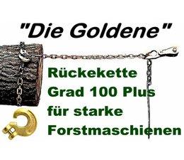 """Forstkette 2,0m mit Schlinghaken + Nadel """"die goldene"""" Chokerkette Rückekette 8mm 12t. Bruchlast 6to. Zuglast liegend"""