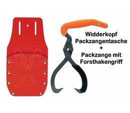 Packzangentasche + Packzange mit Packhakengriff Holster für Forst-Hebezange 200mm