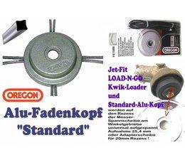 Freischneider Alu-Mähkopf Oregon Standard Fadenkopf für Square-Nylium 4-Kant-Mähfaden für die Motorsense