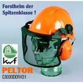 Forsthelm Peltor G3000 uvicator Forst Sicherheitshelm mit Gehörschutz H31 Metall-Visier V4C mit Sonnenblende