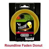 Mähfaden 4,0 mm x 30 m Oregon Roundline rund gelb für Motorsense und Freischneider