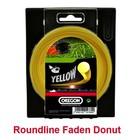 Mähfaden 2,4 mm x 90 m Oregon Roundline rund gelb für Motorsense und Freischneider