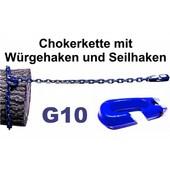 Forstkette Rückekette 8mm 4-Kant Länge 2,0m - Chokerkette mit Seilhaken alles G10