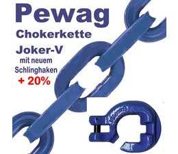 Forstkette Pewag Joker V 3,0m 4-Kant Glieder 8mm mit Profil-Kanten Schlinghaken XF8-G10 + Nadel -Bruchlast 12t