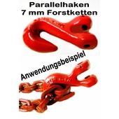 Verkürzungshaken Parallelhaken Forstkette mit Gabelkopf für 7 mm Rückekette