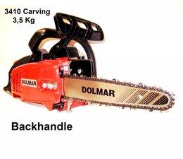 """Carvingsäge gebraucht Dolmar PS-3410 mit Carving Set 1/4"""" 25cm nur 3.5kg"""