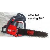 """Carvingsäge efco 147 Kettensäge 35cm umgerüstet auf 1/4"""" 2,3 kW 3,1PS 4,9 kg"""