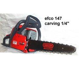 """Carvingsäge efco 147 Kettensäge 2,3kW 3,1PS - 35cm umgerüstet auf 1/4"""" für Carving Holzschnitzen"""