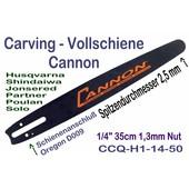 """Carving Schwert 35cm Cannon 1/4"""" 2,5 cm Spitze Schwert für Husqvarna Kettensäge"""