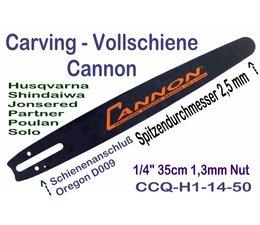 """Carving Schwert / Führungsschiene Cannon 35cm 1/4"""" 2,5 cm Spitze Schwert für Husqvarna Alpina Jonsered Partner Shindaiwa Kettensäge"""