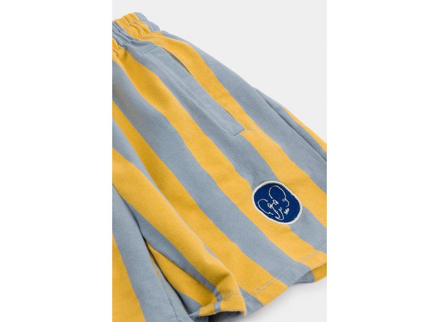 Bobo Choses striped fleece bermuda