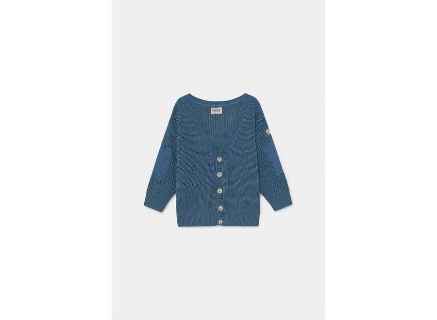 Bobo Choses blue knitted cardigan