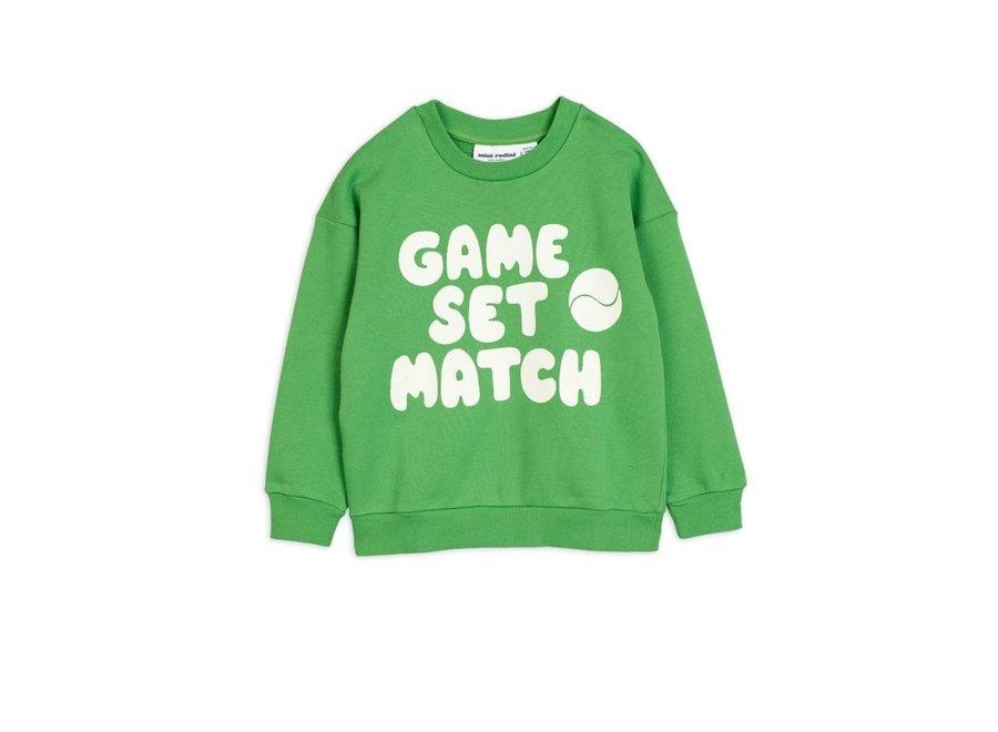 Mini Rodini Game sp sweatshirt green
