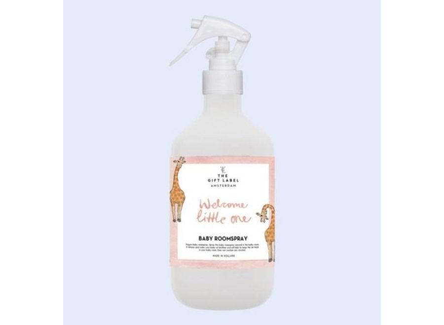 The Gift Label Roomspray // Welcome Little One pink