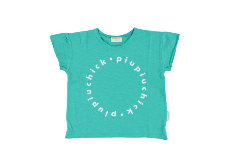Piupiuchick logo shirt seagreen