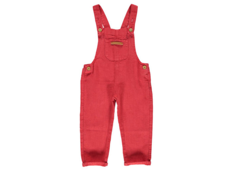 Piupiuchick dungarees red linen