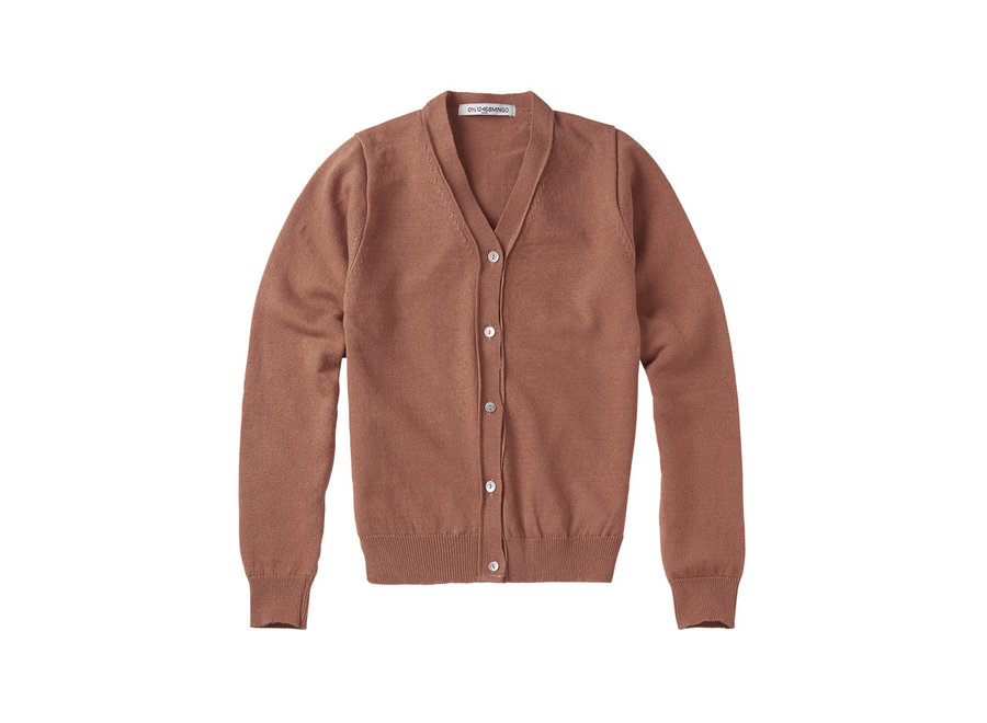 Mingo cardigan Mid Brown