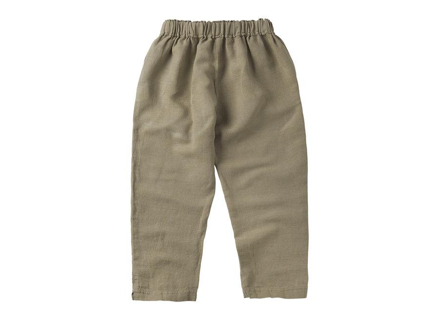 Mingo linen trouser Laurel Oak