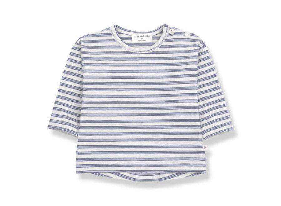 1 + in the Family Najac long sleeve T-shirt azzurro