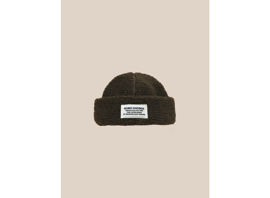 Patch Sheepskin Hat