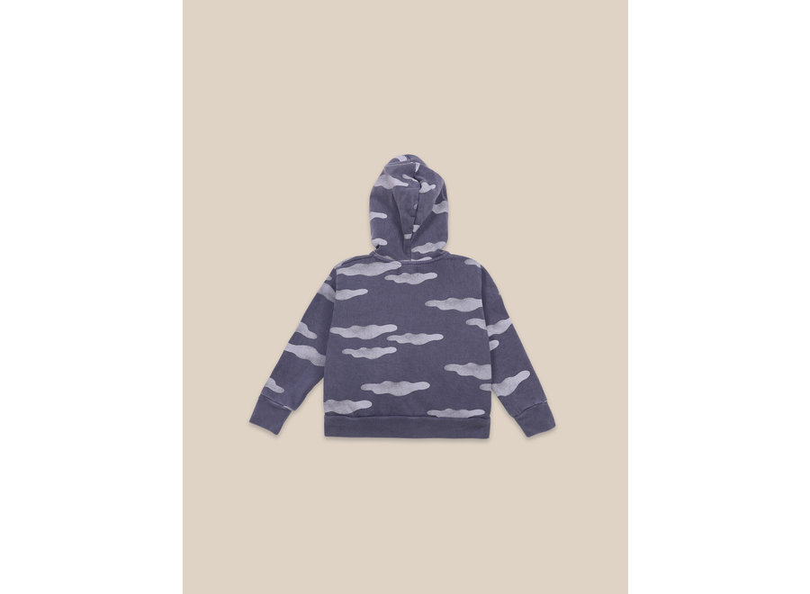 Clouds All Over Zipped Hoodie