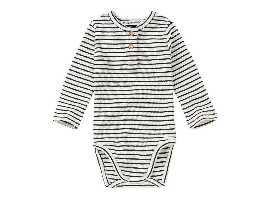 Rib Bodysuit Stripes White / Black