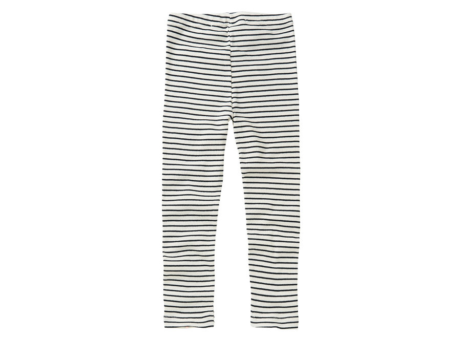 Rib Legging Stripes White / Black