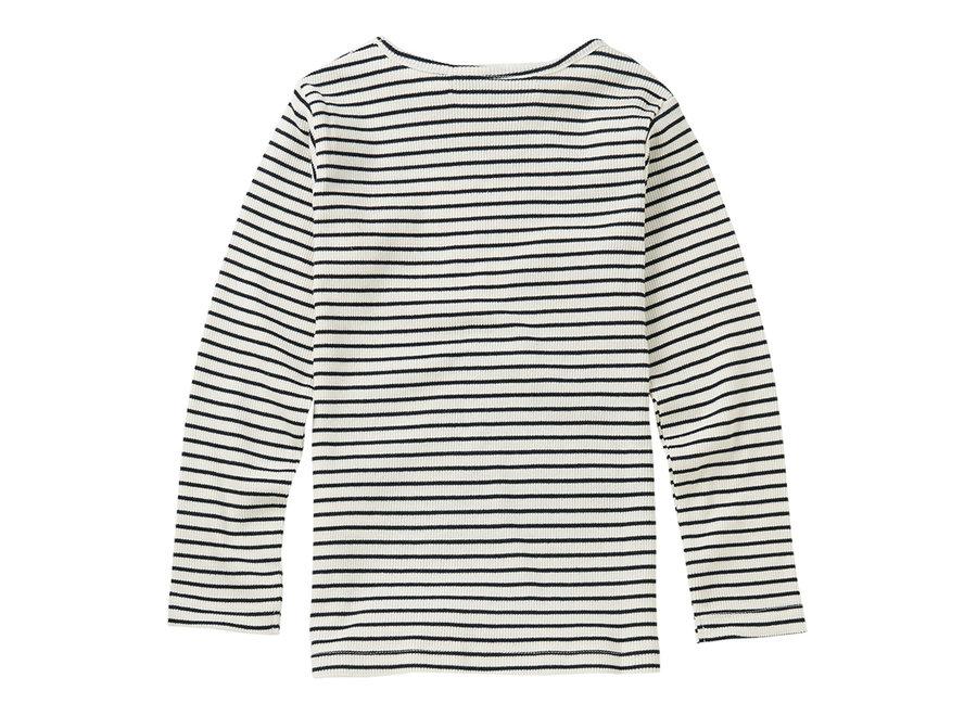 Rib Top Stripes White / Black