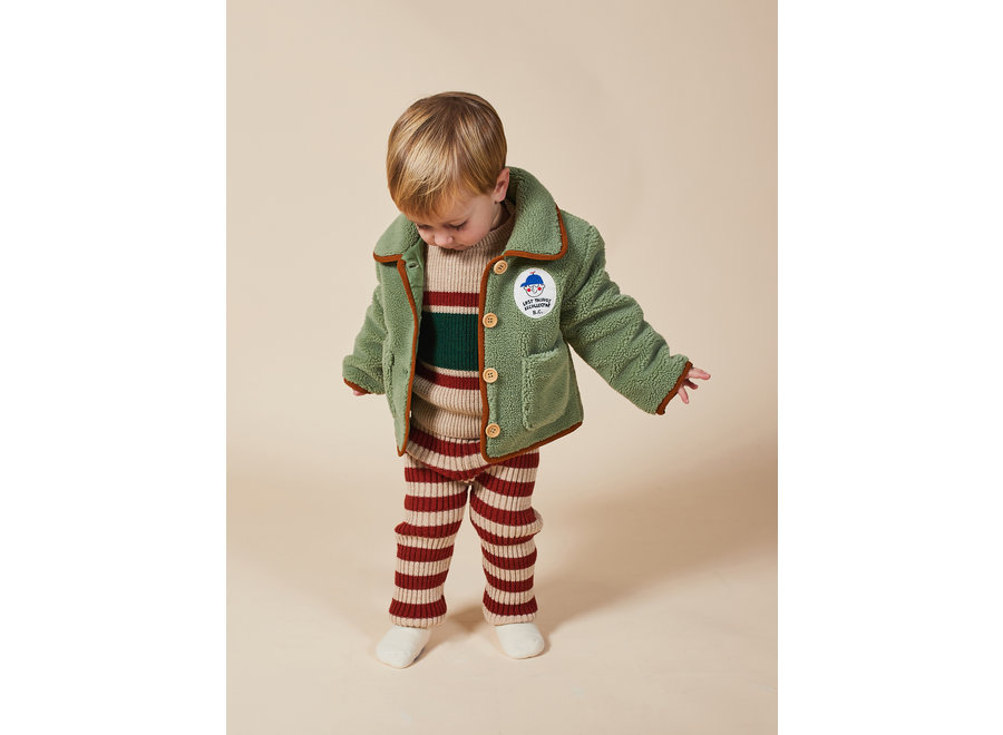 Boy Patch Sheepskin Jacket