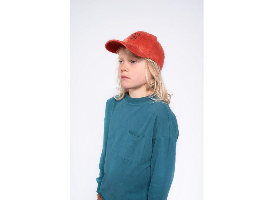 cap dusty red