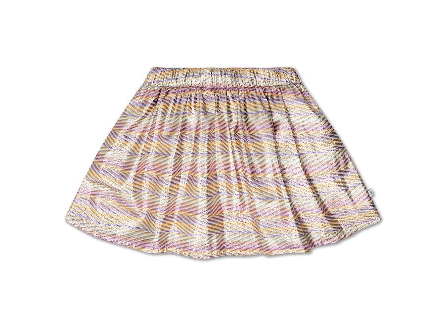 short skirt zig zag sparkle rainbow