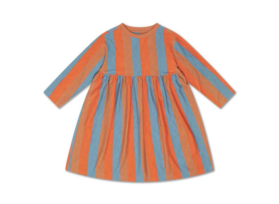 midi dress multi block stripe