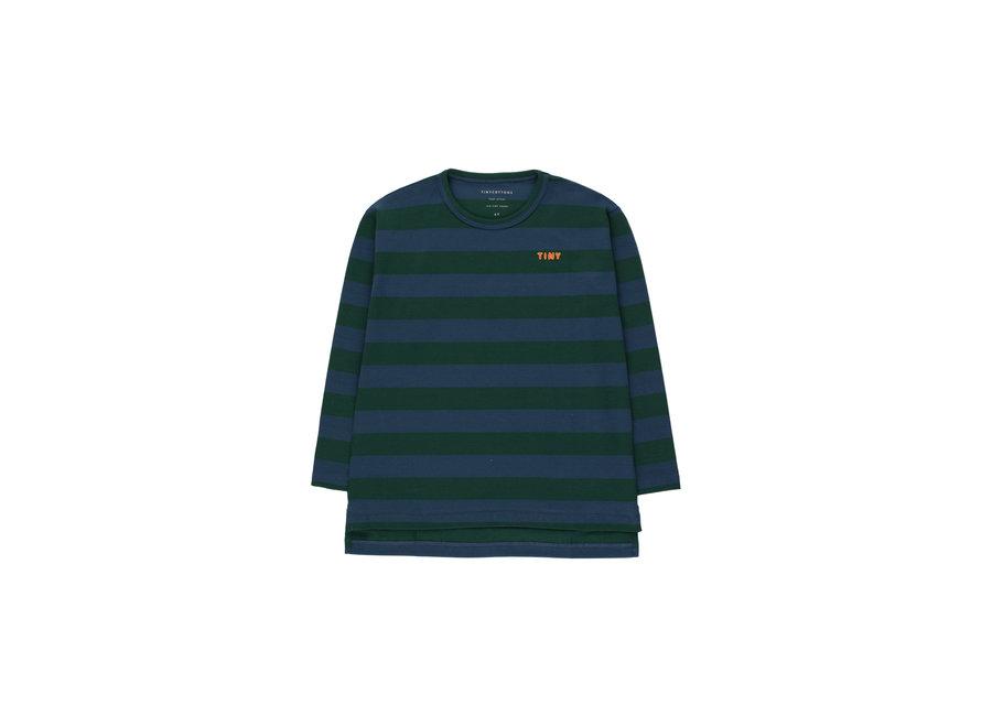 Tiny stripes tee dark green