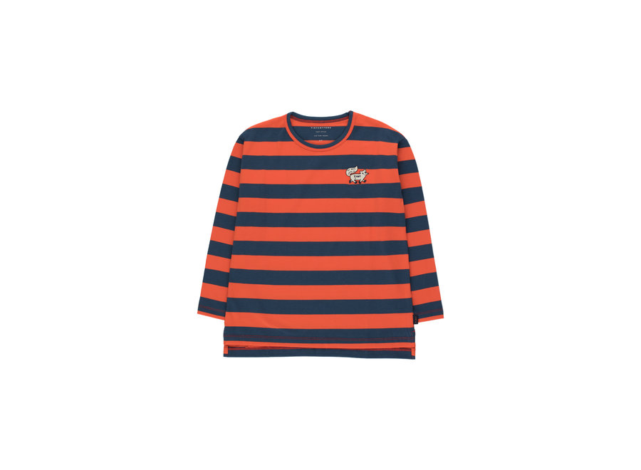 Tiny foxes stripes tee red