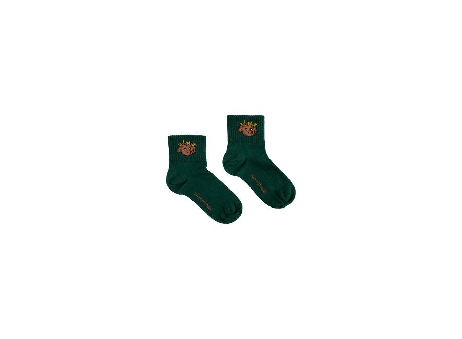 Tiny dog quarter socks