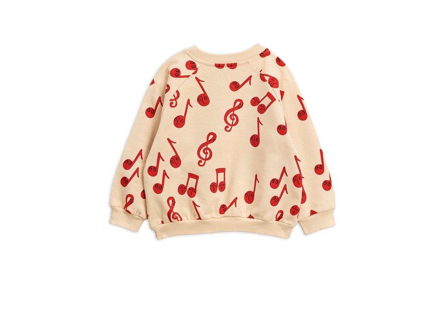 Notes aop sweatshirt