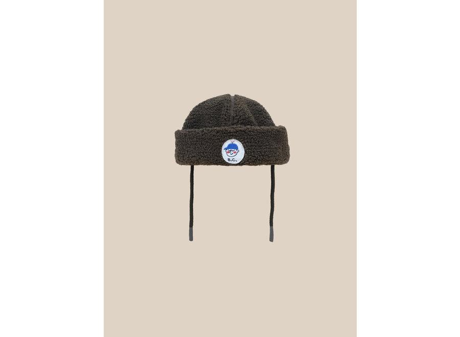 Boy Patch Sheepskin Hat